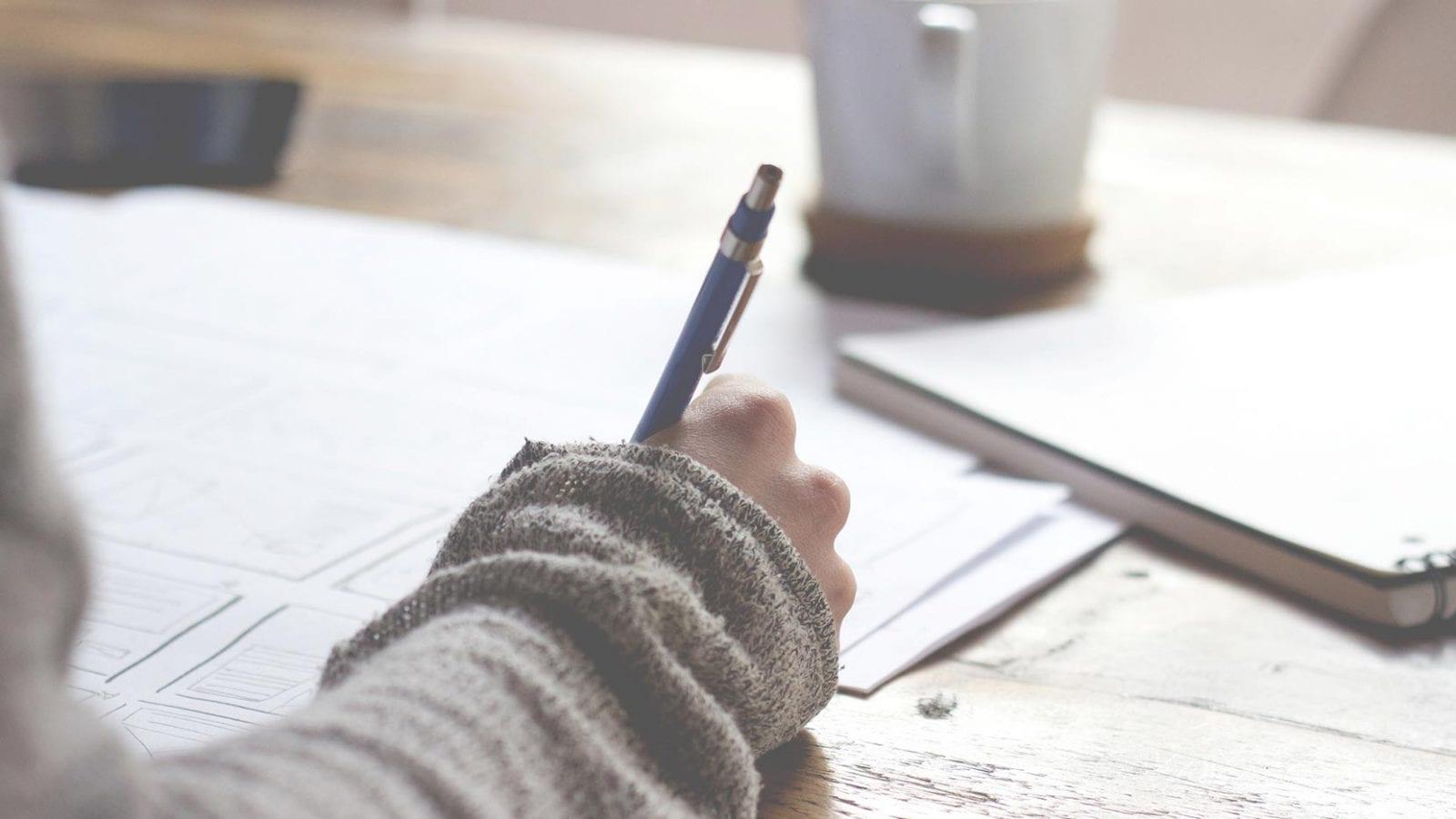 Penna skriver
